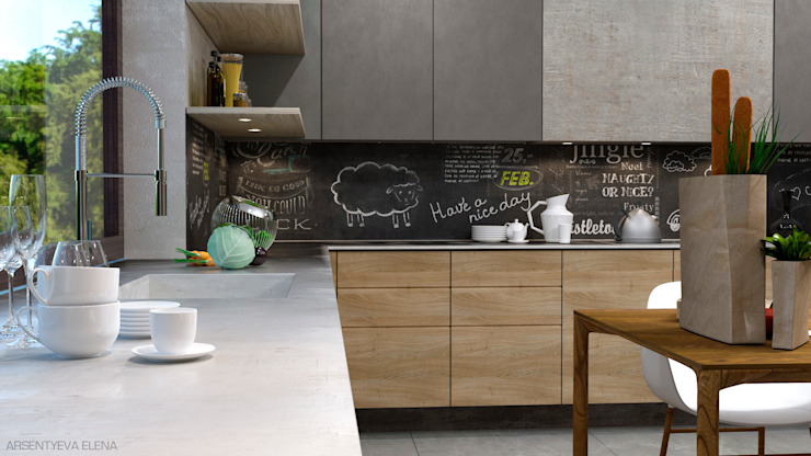 Industrial style kitchen by Elena Arsentyeva Industrial