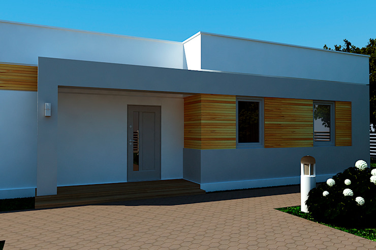 Small house in Ukraine Дома в стиле минимализм от KARYADESIGN architecture studio Минимализм