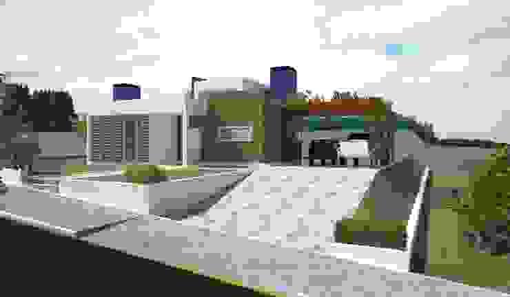 Fachada Principal Casas modernas por Tuti Arquitetura e Inovação Moderno