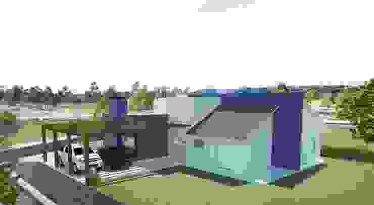 Vista dos Fundos Casas modernas por Tuti Arquitetura e Inovação Moderno