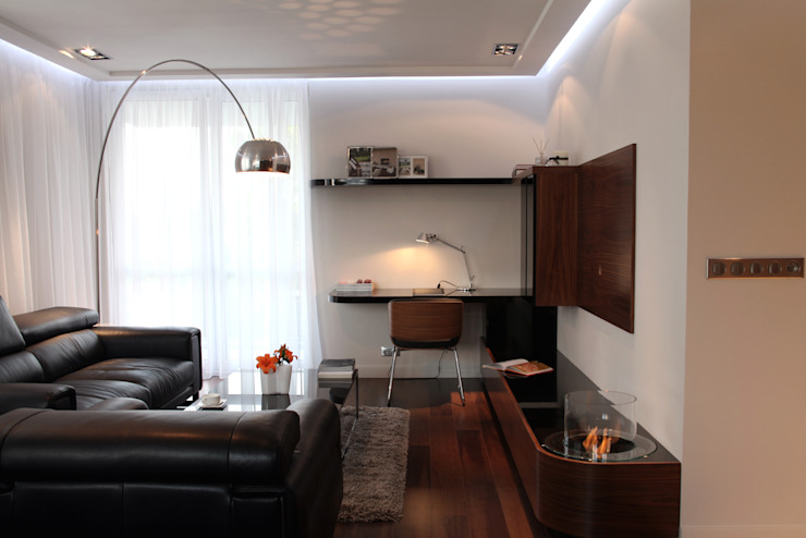 apartament w Krakowie Nowoczesny salon od dot.projekt Nowoczesny