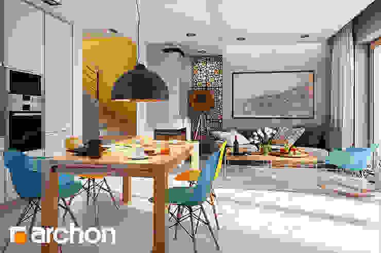 Dom pod miłorzębem 6(GB) - projekt autorstwa ARCHON+ Biuro Projektów od ArchonHome.pl Nowoczesny