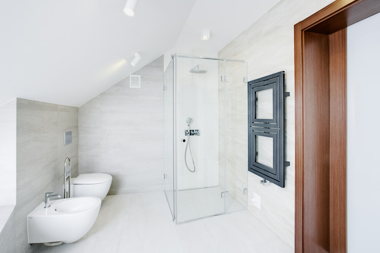 Scandinavian style bathroom by DK architektura wnętrz Scandinavian
