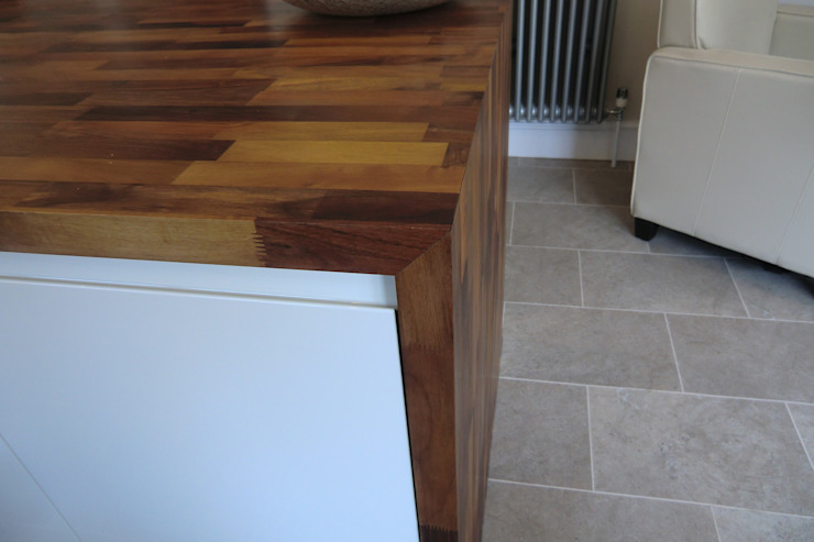 Units framed with solid wooden worktops Harvey's Select KitchenBench tops