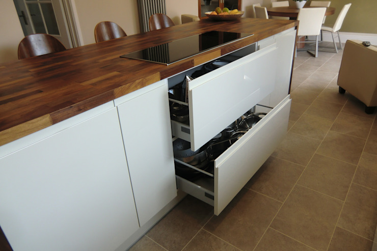 Wide pan draws Harvey's Select KitchenCabinets & shelves
