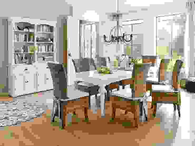 Prowansalski stół z rzeźbionymi nogami: styl , w kategorii  zaprojektowany przez Seart,Skandynawski
