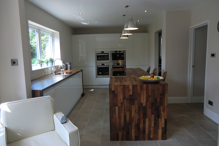 Full shot of kitchen Harvey's Select KitchenCabinets & shelves