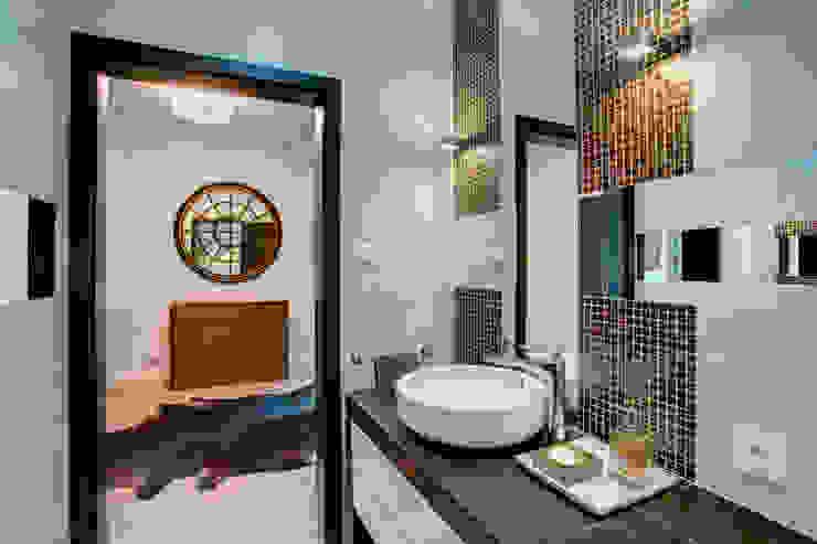c e g ł a w e w n ę t r z u Nowoczesna łazienka od DK architektura wnętrz Nowoczesny