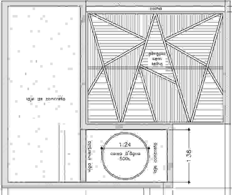 Projeto da Pérgola por Raquel Pelosi Arquitetura e Design Visual Moderno