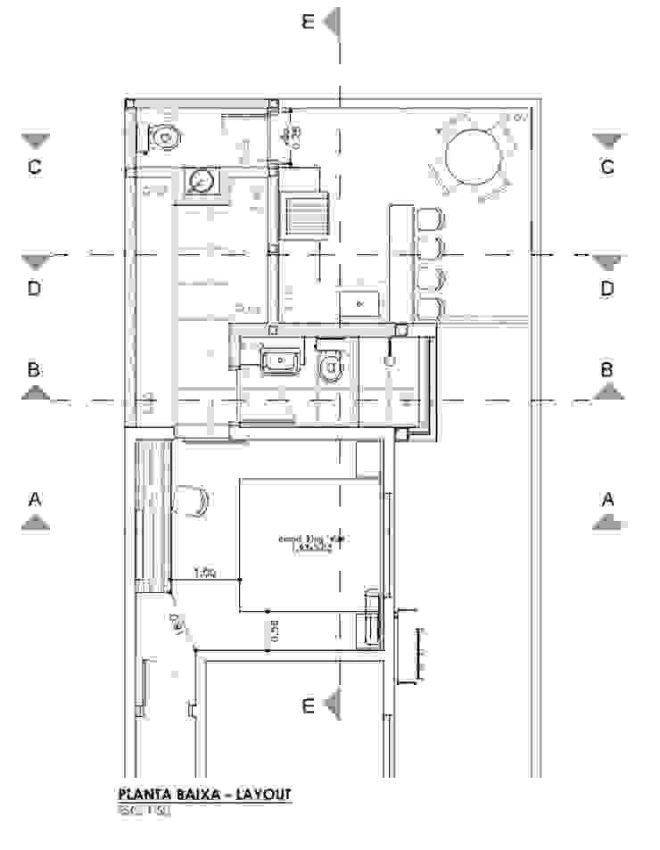 Planta Baixa - Ampliação por Raquel Pelosi Arquitetura e Design Visual Moderno