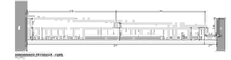Corte Pérgola por Raquel Pelosi Arquitetura e Design Visual Moderno
