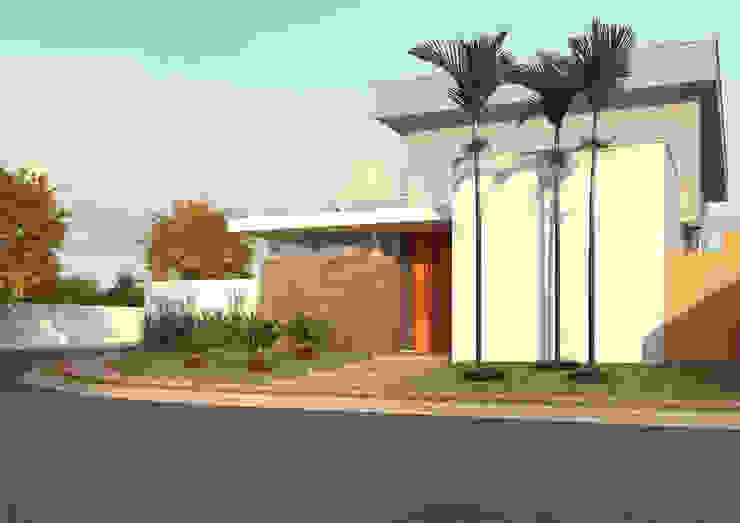 FACHADA ACESSO SOCIAL Casas modernas por Raquel Pelosi Arquitetura e Design Visual Moderno