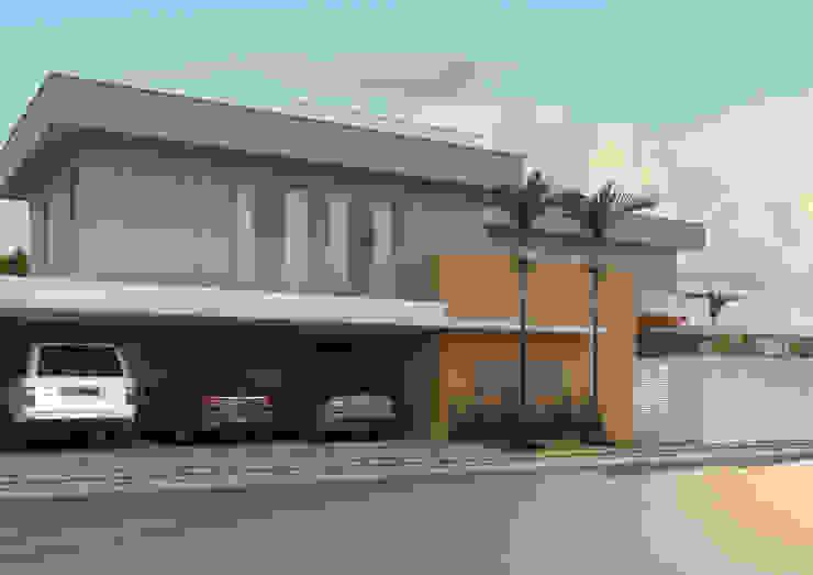 FACHADA ACESSO PRIVADO Casas modernas por Raquel Pelosi Arquitetura e Design Visual Moderno