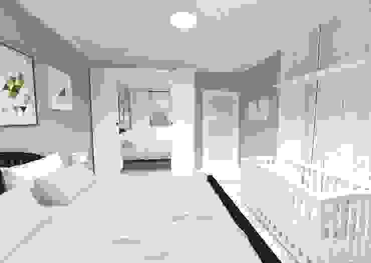 Scandinavian style bedroom by WNĘTRZNOŚCI Projektowanie wnętrz i mebli Scandinavian