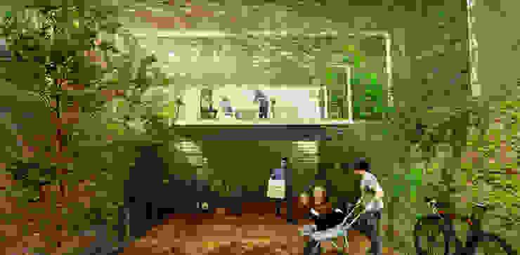 Fachada Casas minimalistas de Colectivo Ruta Alterna Minimalista