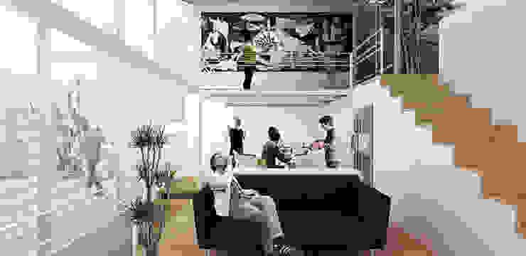 Interior Pasillos, vestíbulos y escaleras minimalistas de Colectivo Ruta Alterna Minimalista