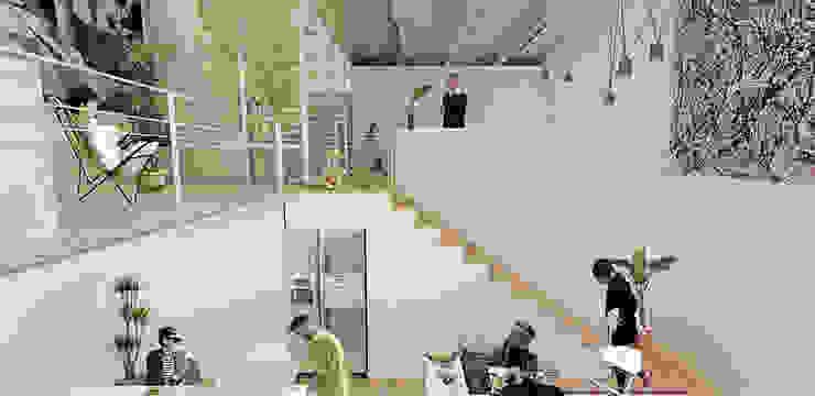 Interior Comedores minimalistas de Colectivo Ruta Alterna Minimalista