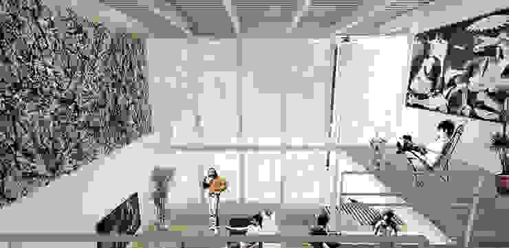 Interior Estudios y despachos minimalistas de Colectivo Ruta Alterna Minimalista