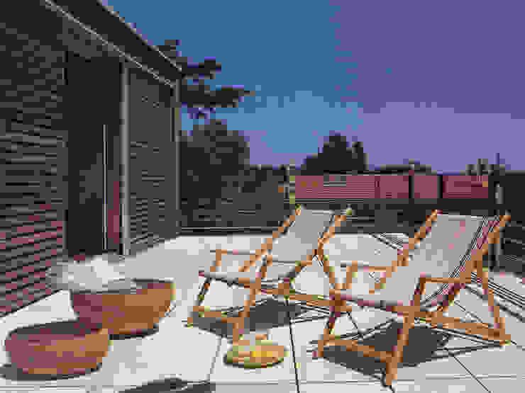 Terraza Balcones y terrazas modernos de Artigas Arquitectes Moderno