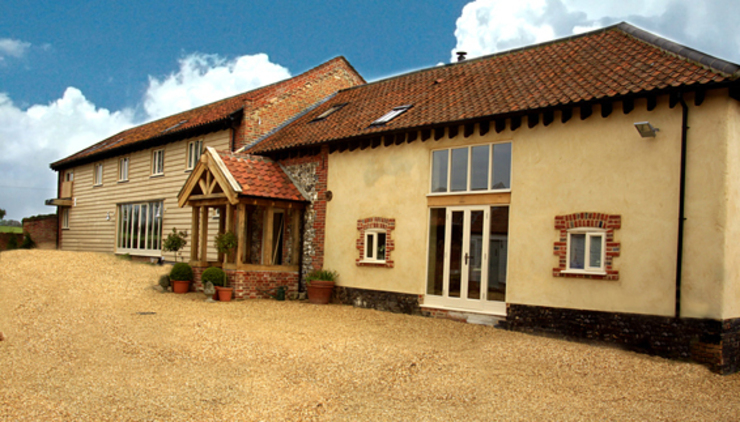 Completed Barn Conversion: country  by Clayland Architects, Country