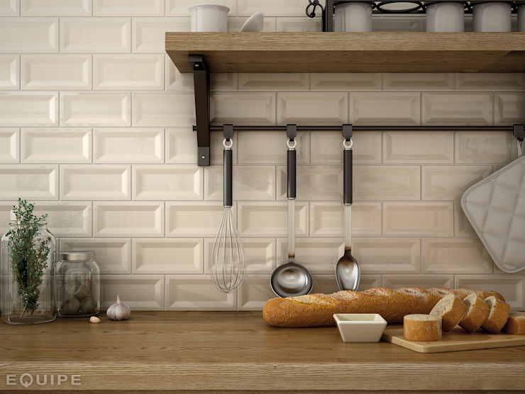 مطبخ تنفيذ Equipe Ceramicas, ريفي سيراميك