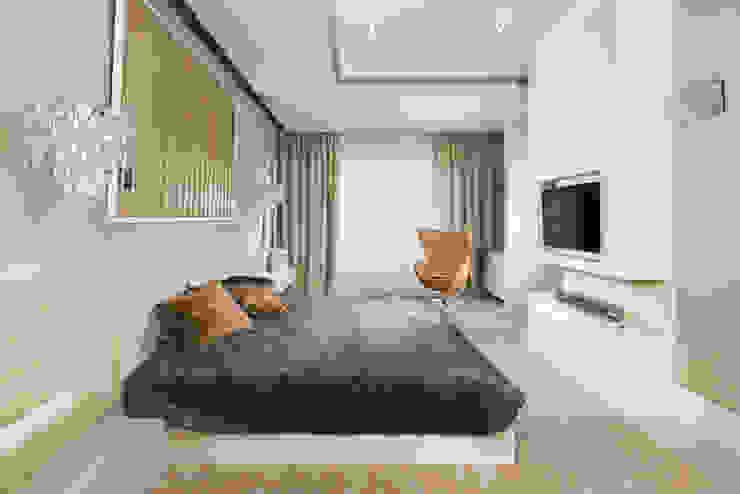 Sypialnia w apartamencie Hill Park T3 Studio Nowoczesna sypialnia