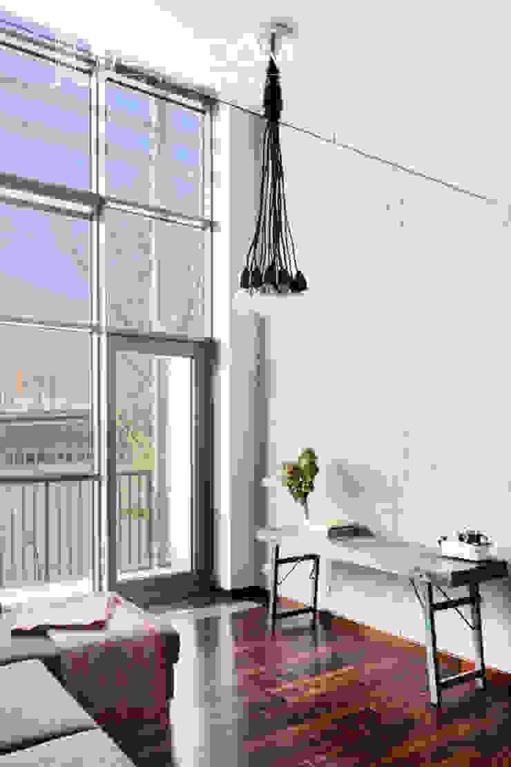 Pracownia Architektury Wnętrz Decoroom Ruang Keluarga Gaya Industrial