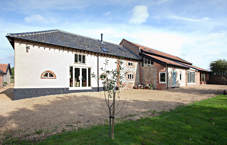 Completed Barn Conversion Rear: country  by Clayland Architects, Country