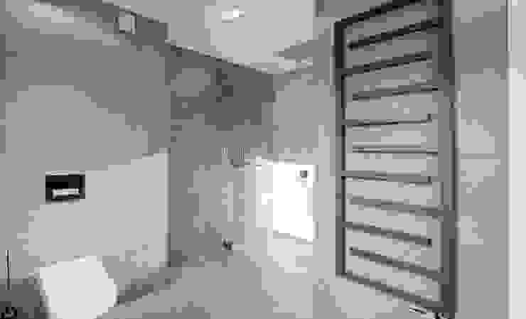Minimalistycznie. Minimalistyczna łazienka od 4ma projekt Minimalistyczny