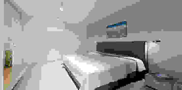 Minimalistycznie. Minimalistyczna sypialnia od 4ma projekt Minimalistyczny