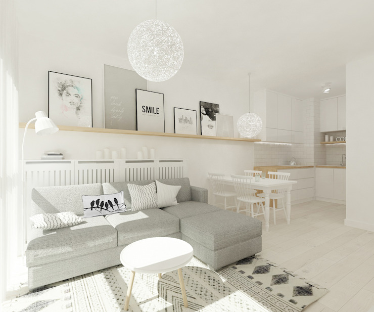 Living room by 4ma projekt, Scandinavian