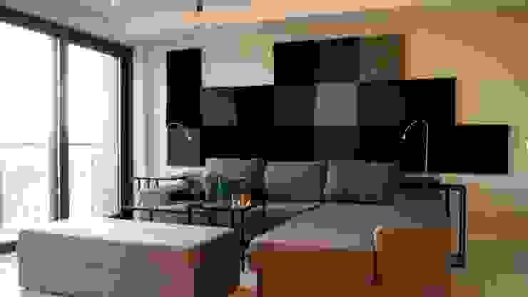 Cube w realizacji Fluffo: styl , w kategorii Salon zaprojektowany przez FLUFFO fabryka miękkich ścian,Nowoczesny