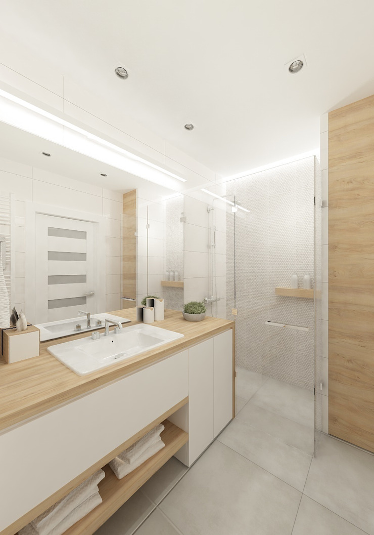 Baños de estilo escandinavo de 4ma projekt Escandinavo