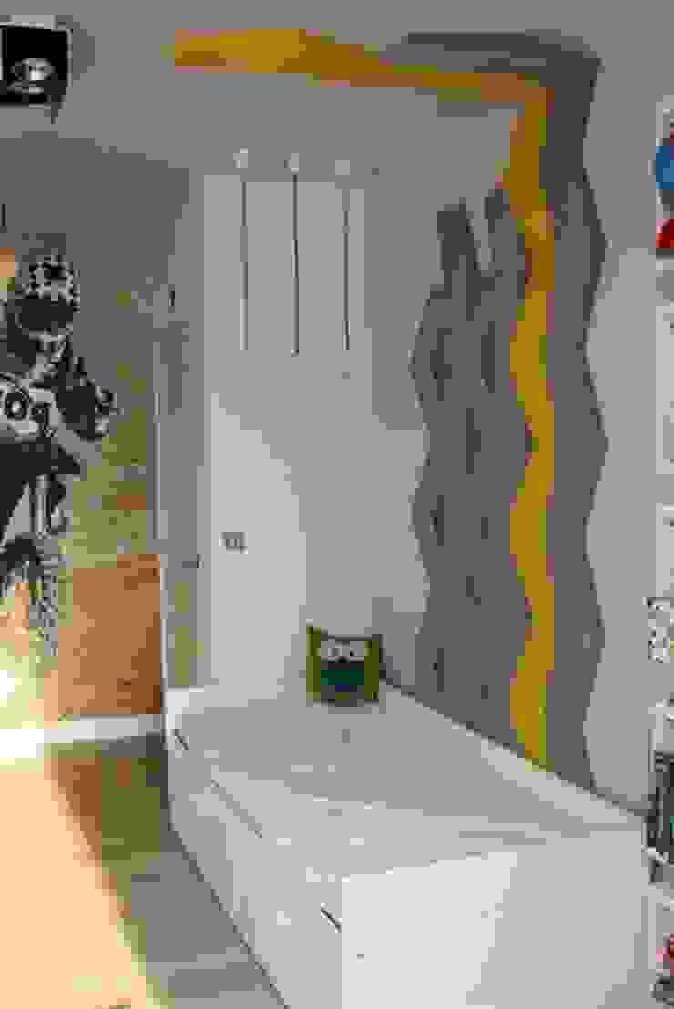 CHEVRON w prywatnej realizacji Nowoczesne ściany i podłogi od FLUFFO fabryka miękkich ścian Nowoczesny