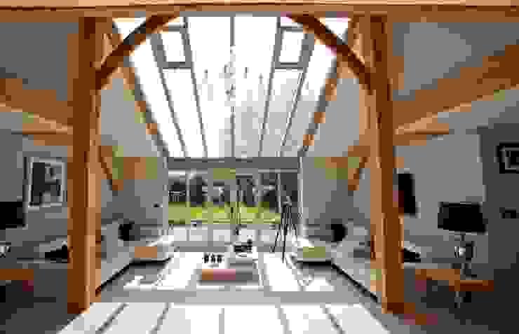 Central living space Landelijke woonkamers van Clayland Architects Landelijk