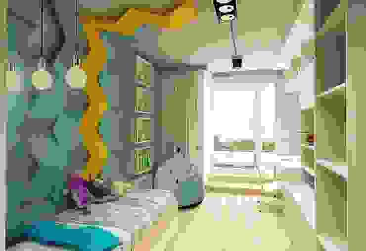 CHEVRON w projekcie Design me too - architektura wnętrz od FLUFFO fabryka miękkich ścian Nowoczesny