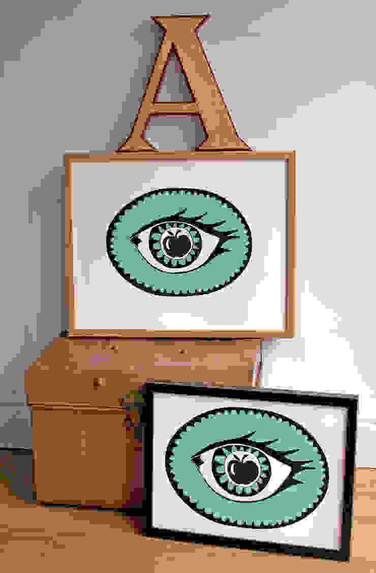 Apple in my eye Print: modern  by Mary Fellows, Modern