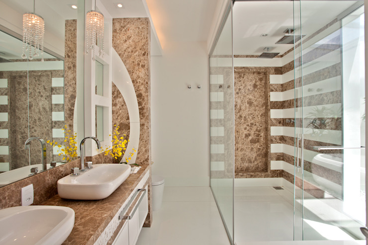 Designer de Interiores e Paisagista Iara Kílaris Modern style bathrooms