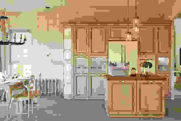 Традиционный интерьер для кухни столовой Кухня в классическом стиле от Студия дизайна Interior Design IDEAS Классический