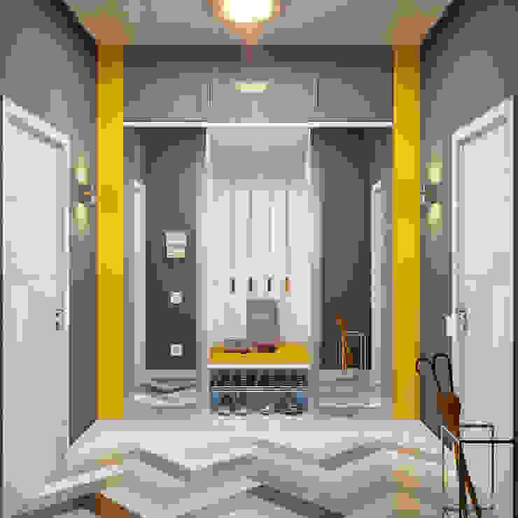 Эффектный интерьер прихожей в современном стиле Коридор, прихожая и лестница в модерн стиле от Студия дизайна Interior Design IDEAS Модерн