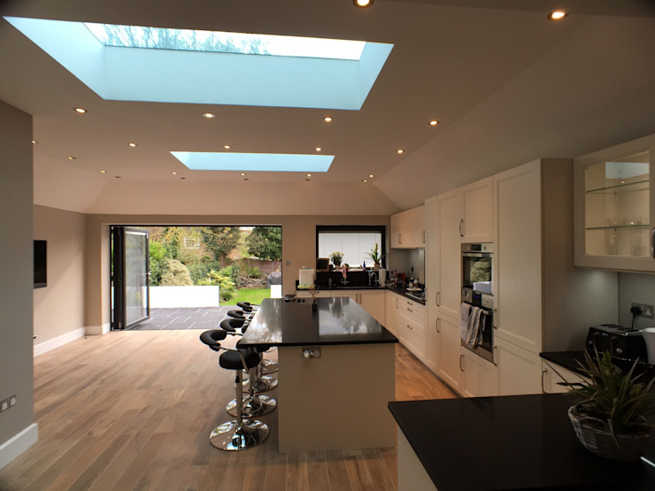 6 m rear extension design and build Modern dining room by Progressive Design London Modern