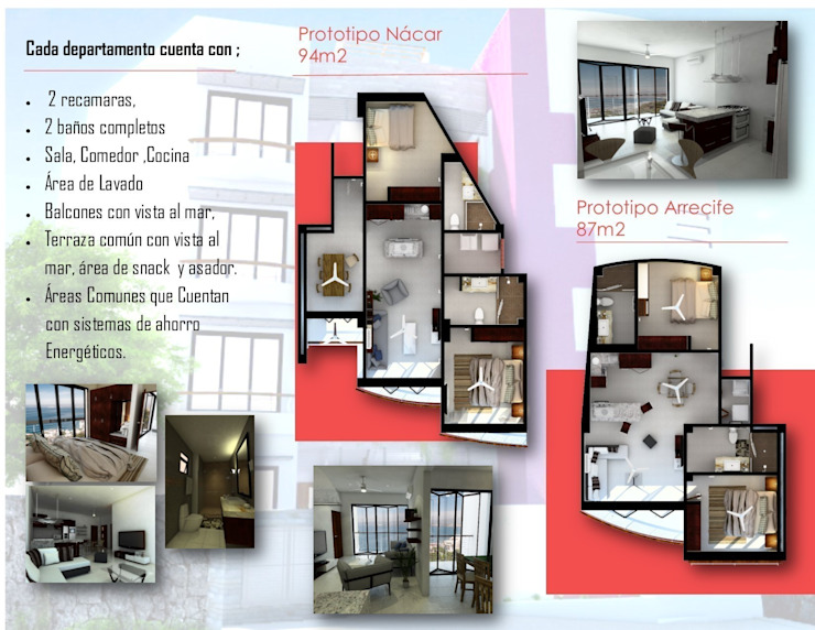 Triptico informativo, Condominios Panamá. Estudios y despachos modernos de think E-studio Moderno