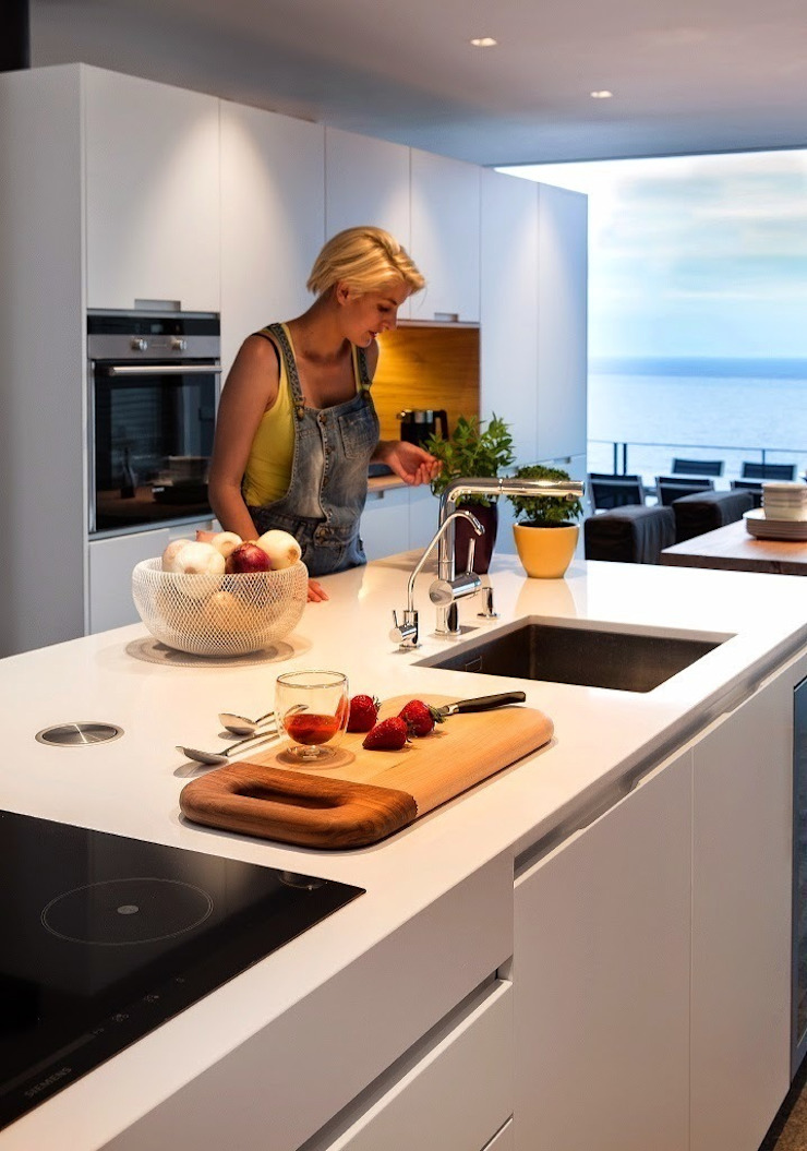 Detalle de la cocina. Cocinas de estilo moderno de VelezCarrascoArquitecto VCArq Moderno