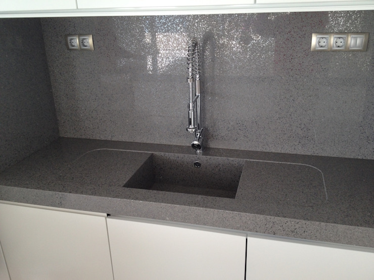 marmoles la pedrera Dapur Modern