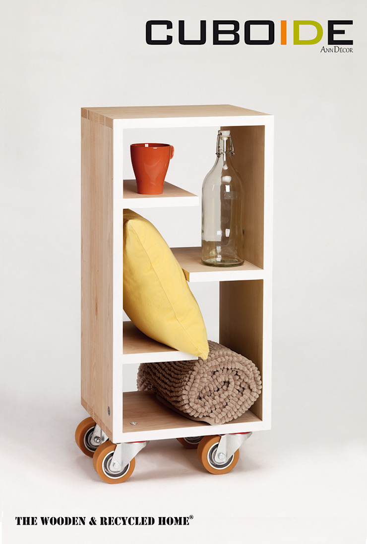 Cuboide - szafka pomocnik model 33 od Ann Decor - The Wooden & Recycled Home Skandynawski