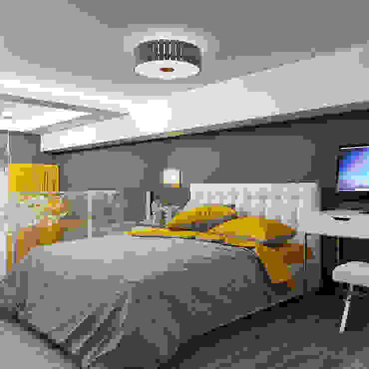 Желтые акценты в интерьере Спальня в стиле модерн от Студия дизайна Interior Design IDEAS Модерн