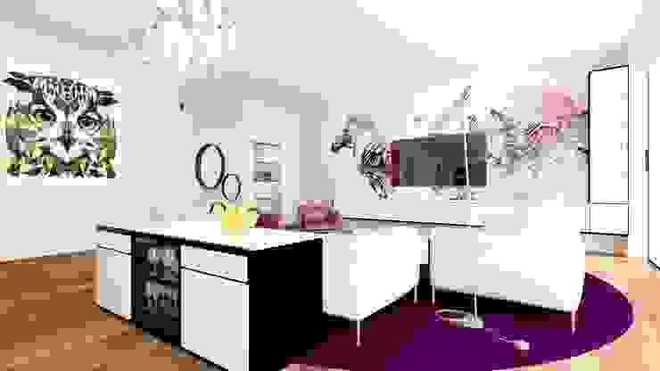 From 2 to 1 Moderne Wohnzimmer von Eva Sáve Modern