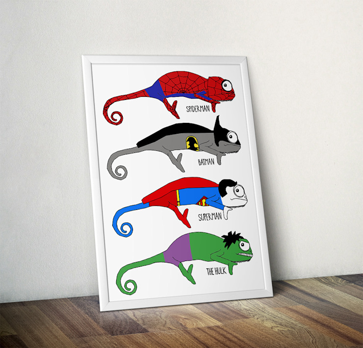 Chameleon Superheroes by Jasmine Hutchison Wraptious ІлюстраціїКартини та картини