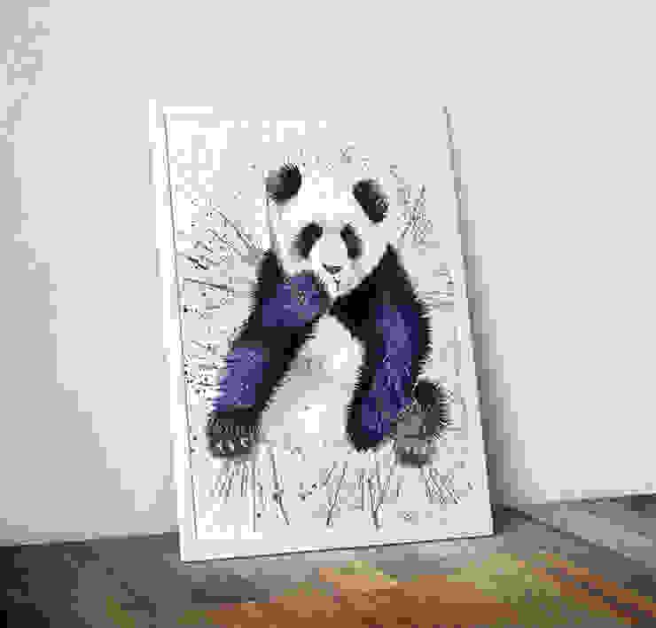 Splatter Panda by Katherine Williams Wraptious ІлюстраціїКартини та картини