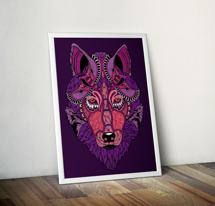 Mystic Wolf by Paul Robbins Wraptious ІлюстраціїКартини та картини
